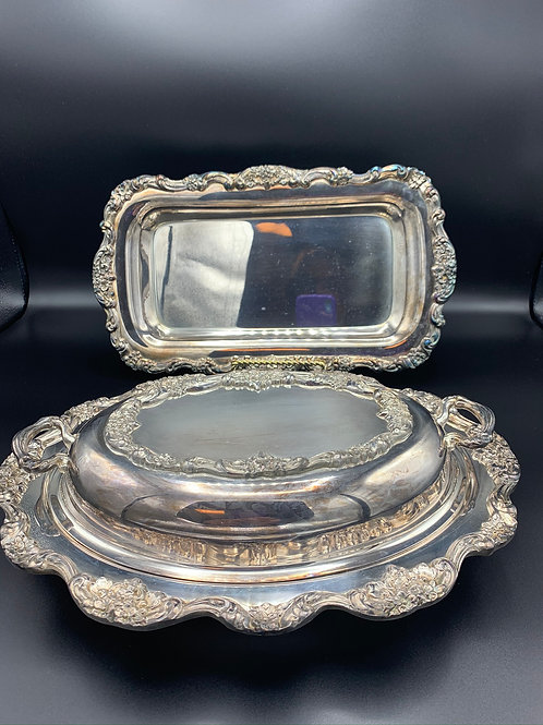 Antique Poole Silverplate