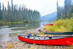 Canoe camping Yukon Borealkennels
