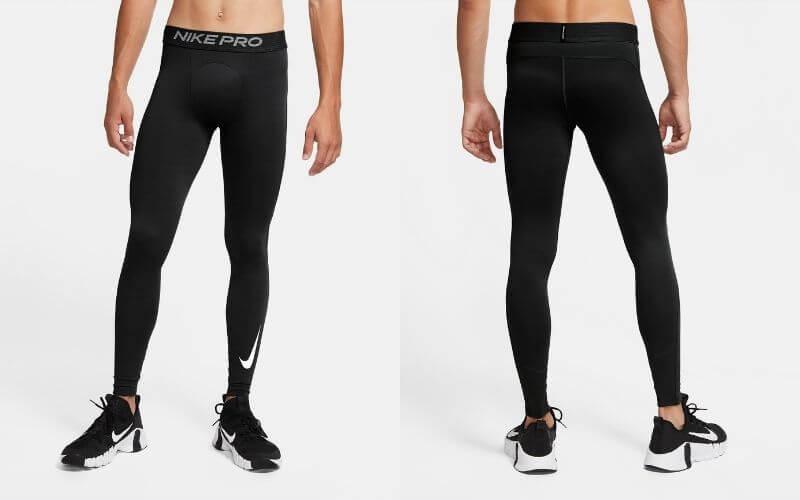 Athlete wearing Nike Pro Warm Tights.