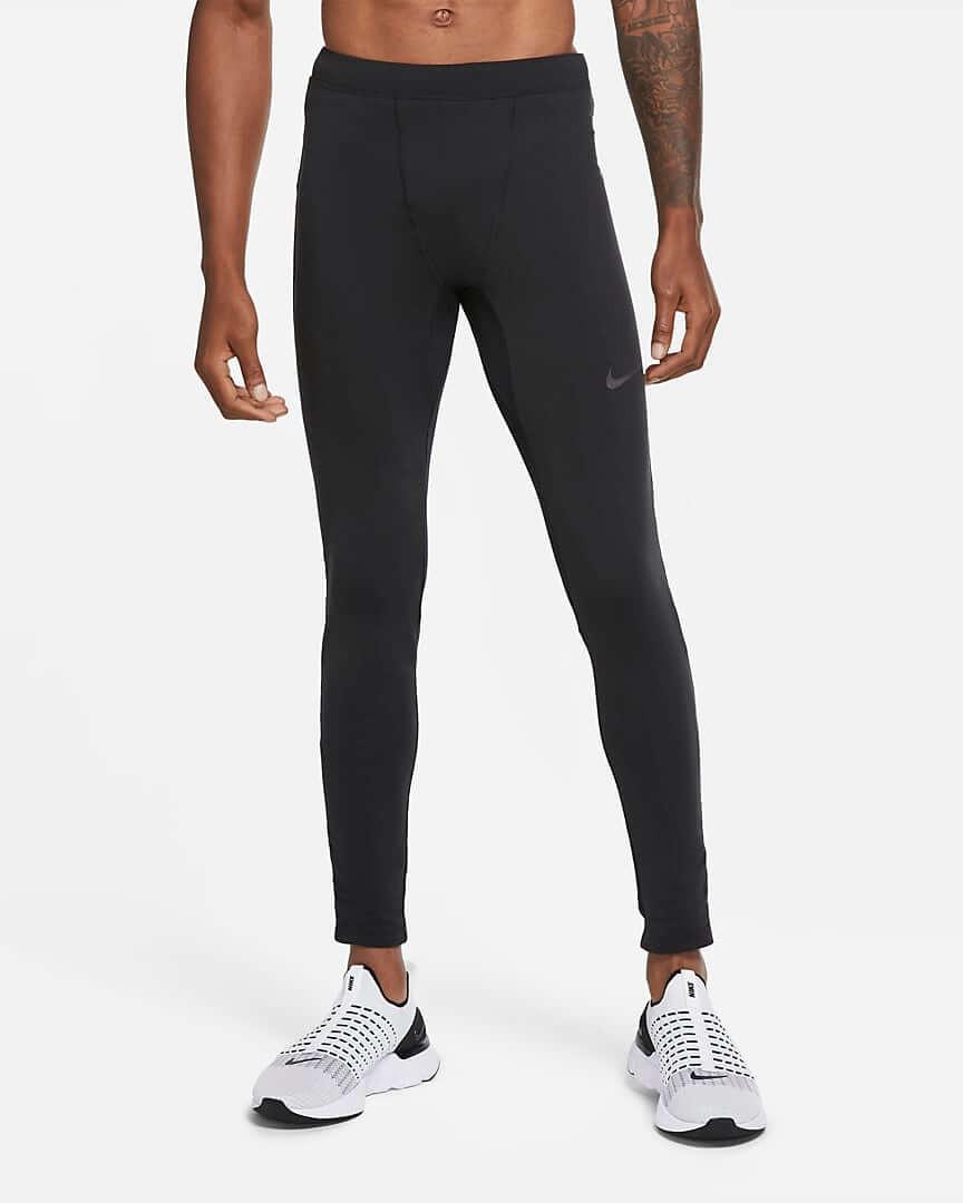 Athlete wearing Nike Run Thermal Running Tights.