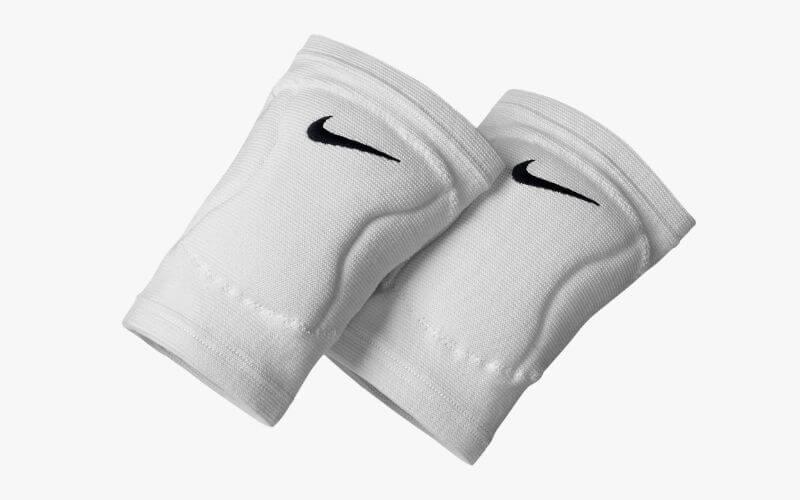 Nike Streak Volleyball Knee Pads in white.