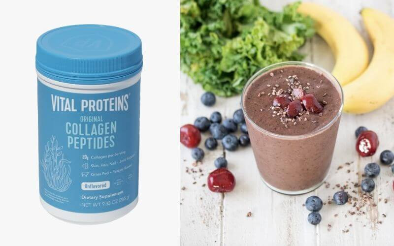 Vital Proteins Collagen Peptides used in a fruit smoothie.