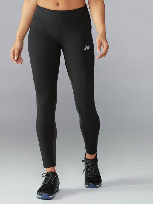 Athlete wearing New Balance Impact Heat Tights.