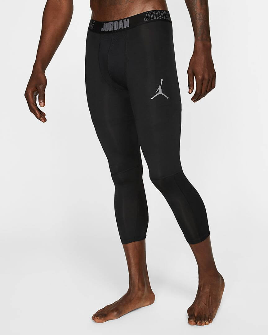 Athlete wearing Jordan Dri-FIT 23 Alpha compression tights.