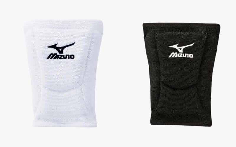 Mizuno LR6 Volleyball Knee Pads in white and black.