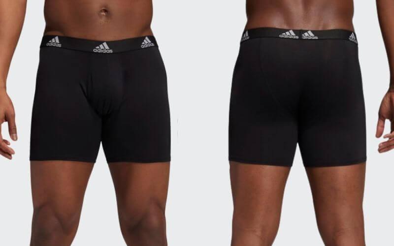 Athlete wearing Adidas Performance Boxer Briefs.