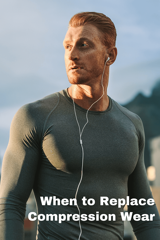 Male athlete in compression shirt
