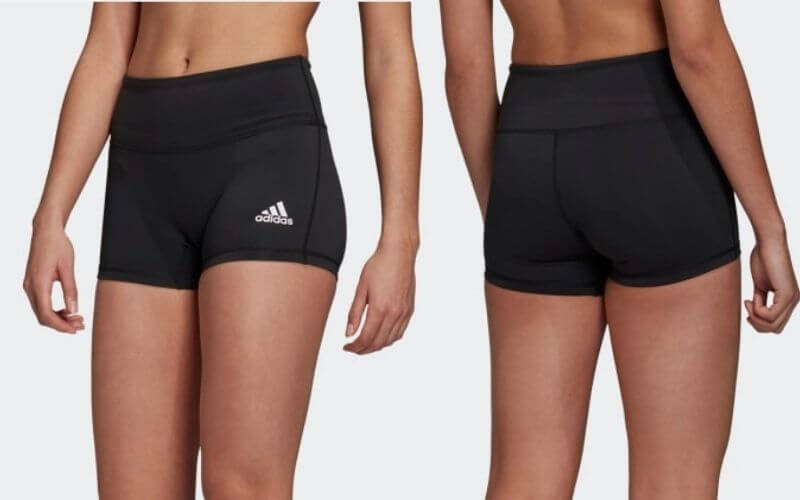 Athlete wearing Adidas 4 Inch Short for volleyball.