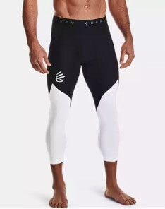 Athlete wearing Curry UNDRTD ¾ compression tights.