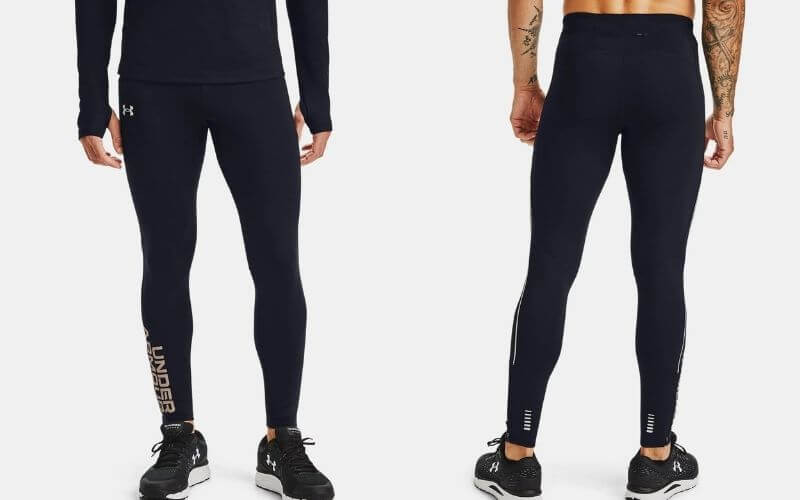 Athlete wearing Under Armour Fly Fast ColdGear Tights.