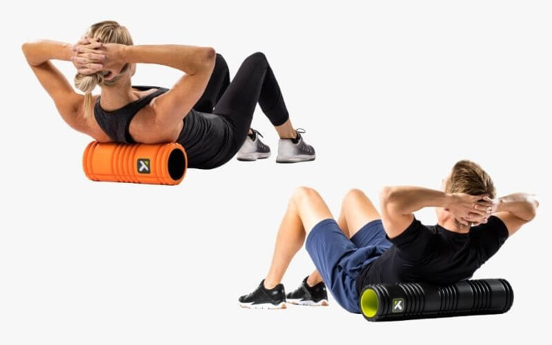 Athletes using TriggerPoint GRID Foam Rollers.