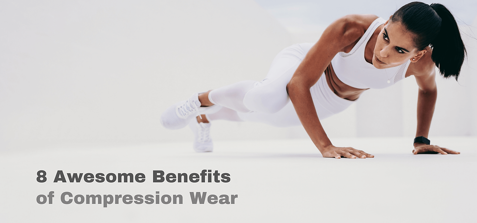 Female athlete exercising in compression wear