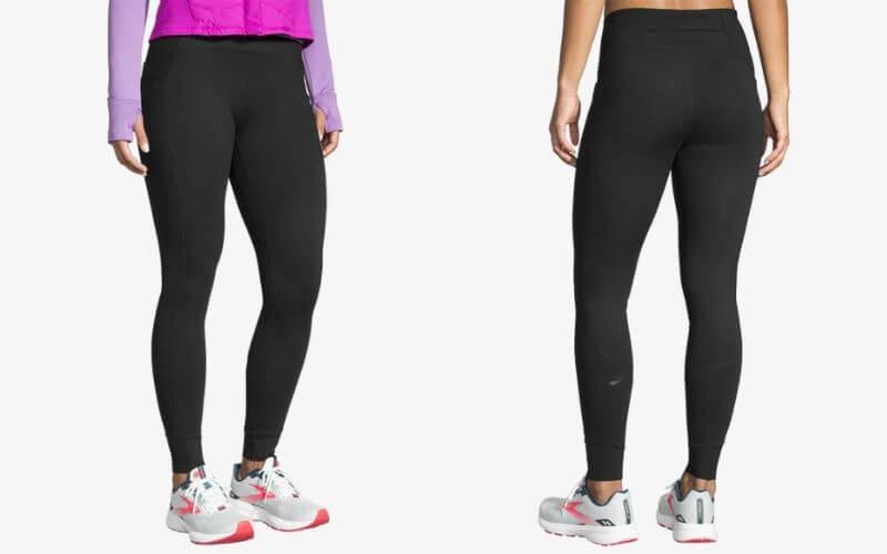 Athlete wearing Brooks Momentum Thermal Running Tights.