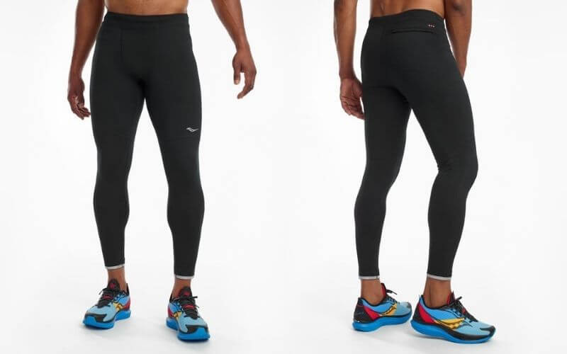 Athlete wearing Saucony Solstice 2.0 Tights.