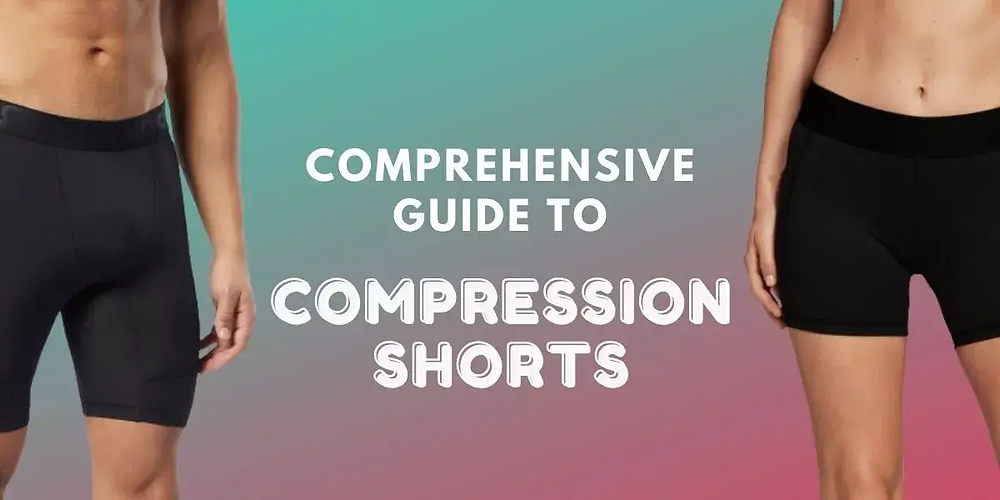 Male and female athletes wearing compression shorts.