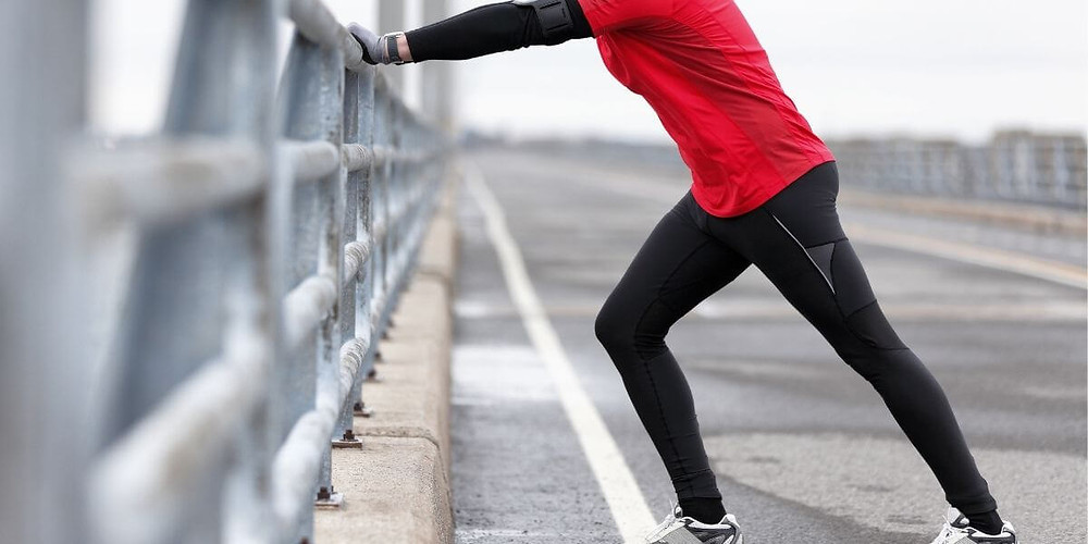 Runner wearing compression tights as outerwear.