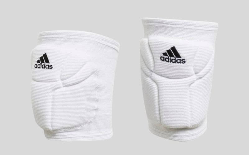 Adidas Elite Volleyball Knee Pads in white.