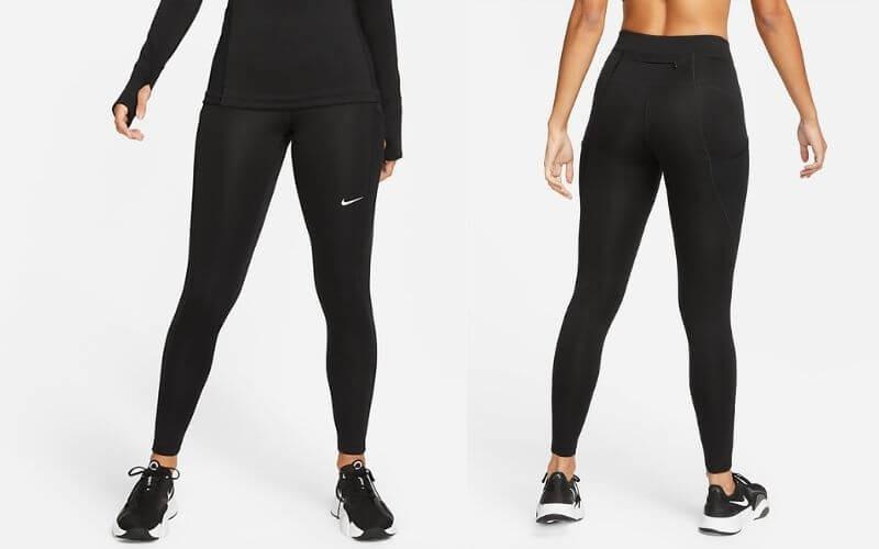 Athlete wearing Nike Pro Therma-FIT Leggings.