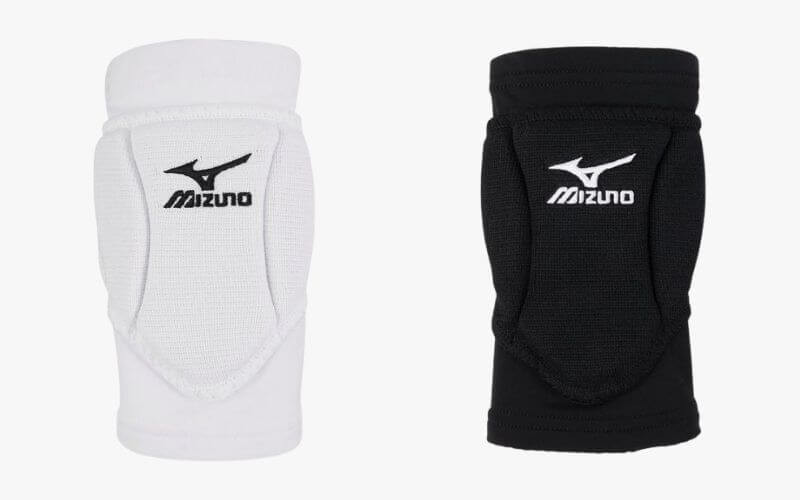Mizuno Ventus Volleyball Knee Pads in white and black.