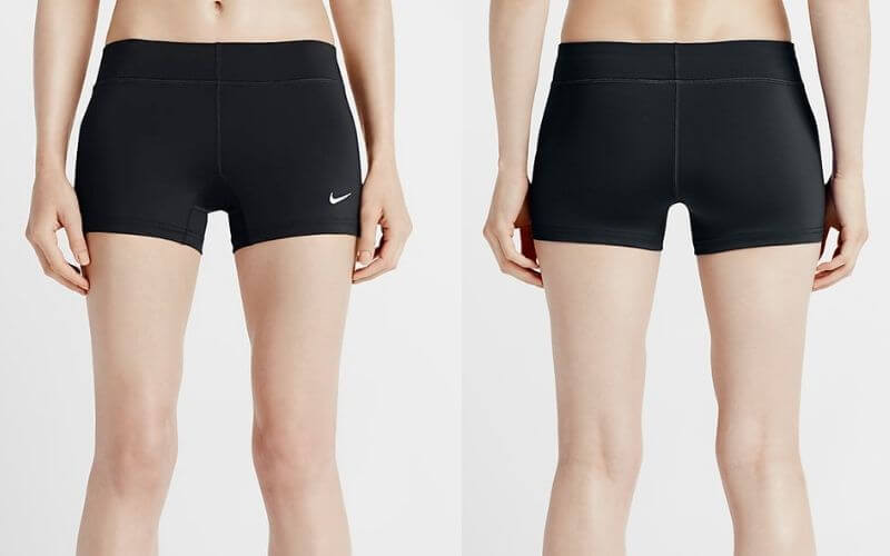 Athlete wearing Nike Performance Game Volleyball Shorts.