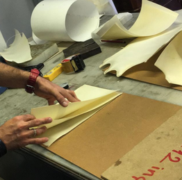 Making of parchment panels