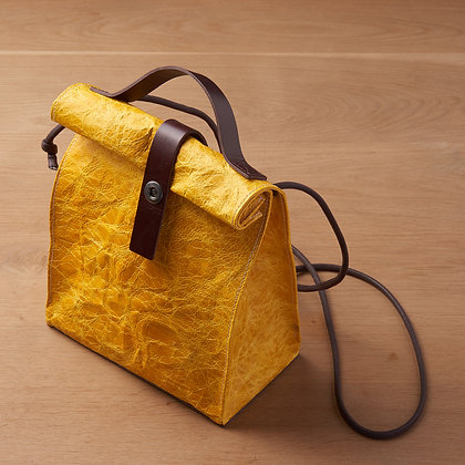 Parchment Leather Bag - Yellow