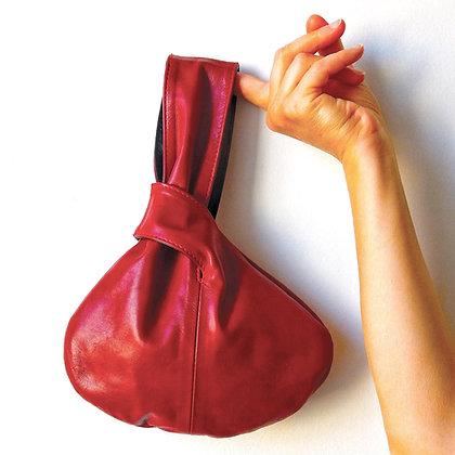 Leather wristlet - Leather handbag - Reversible wrist bag