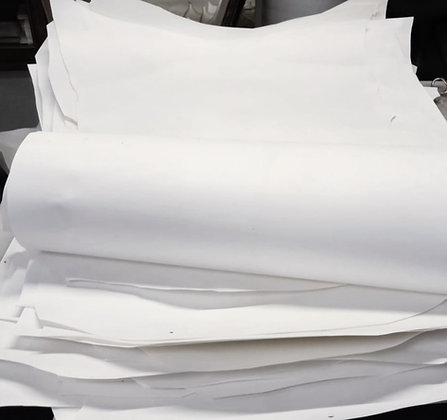 Full hide white goatskin parchment, vellum