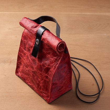 Parchment Leather Bag - Red