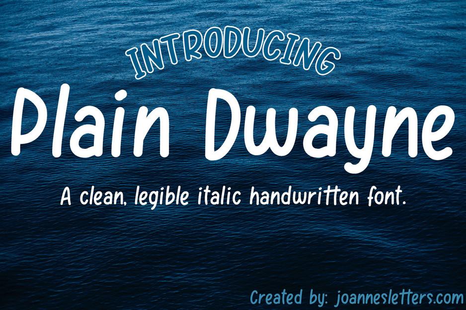 Plain Dwayne