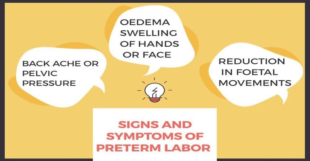 preterm labor signs and symptoms