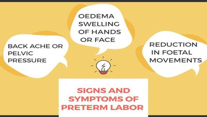 Signs and symptoms of premature labor