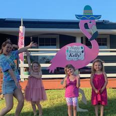 Flamingo birthday mom with kids.jpg