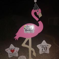 Happy Birthday Bubby 70yrs Flamingo.jpg