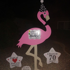 Happy Birthday Bubby 70yrs Flamingo.jpg