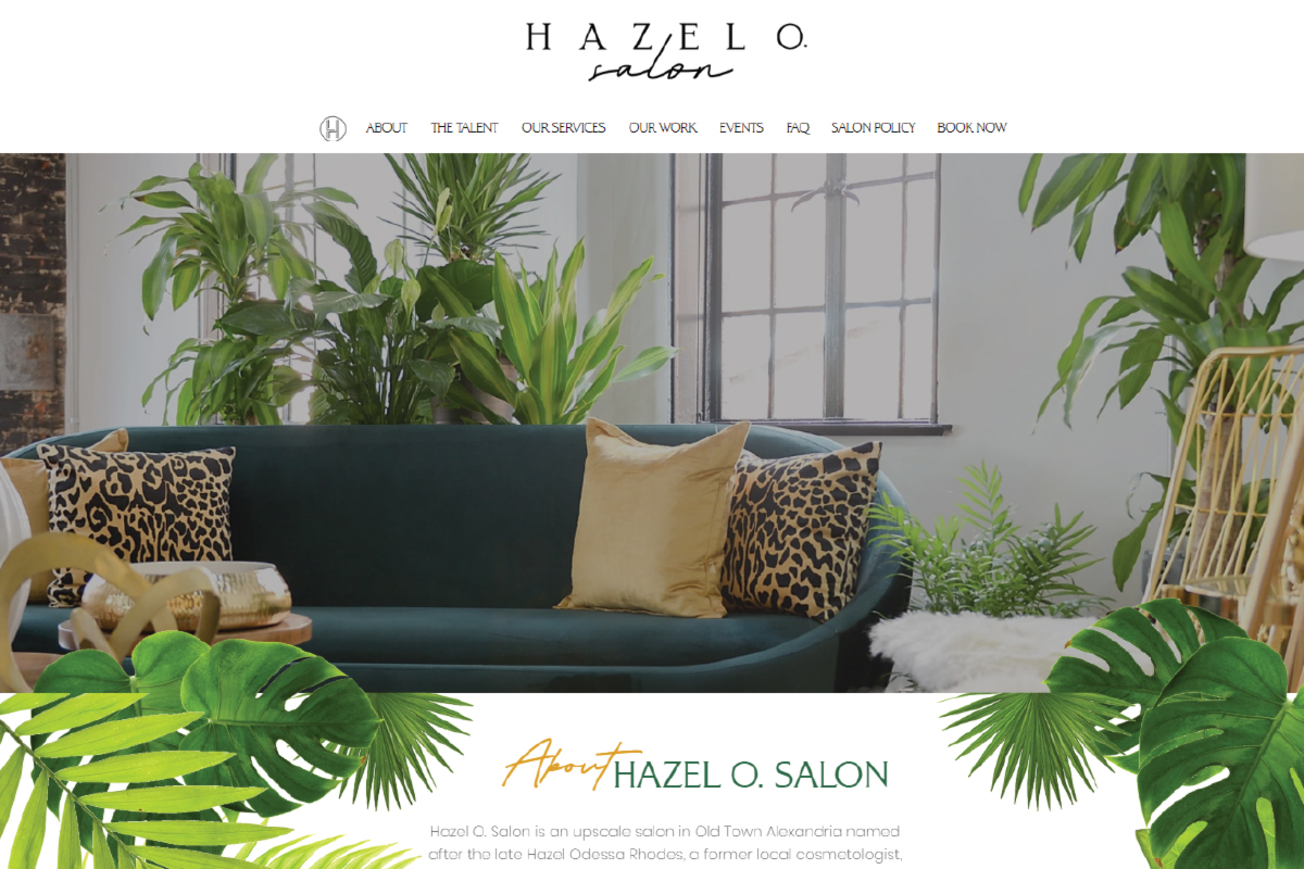 hazel-o-salon-Virginia-website-design