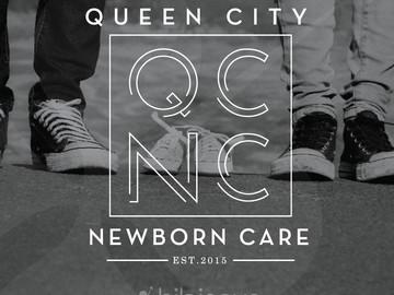 QCNC-queen-city-newborn-care-logo-design