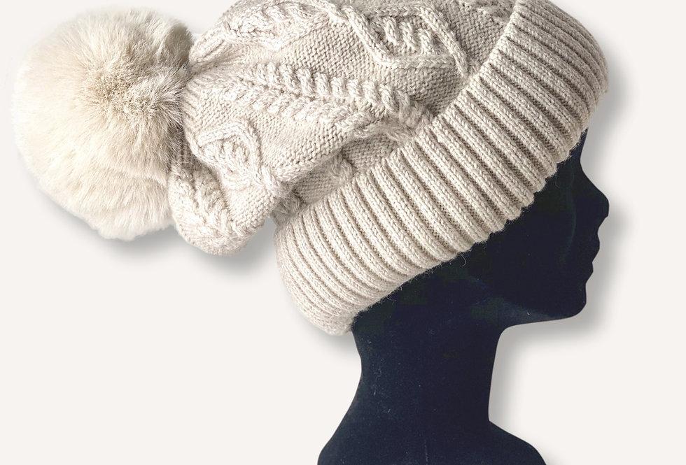 Bonnet OSLO - Pompon Amovible