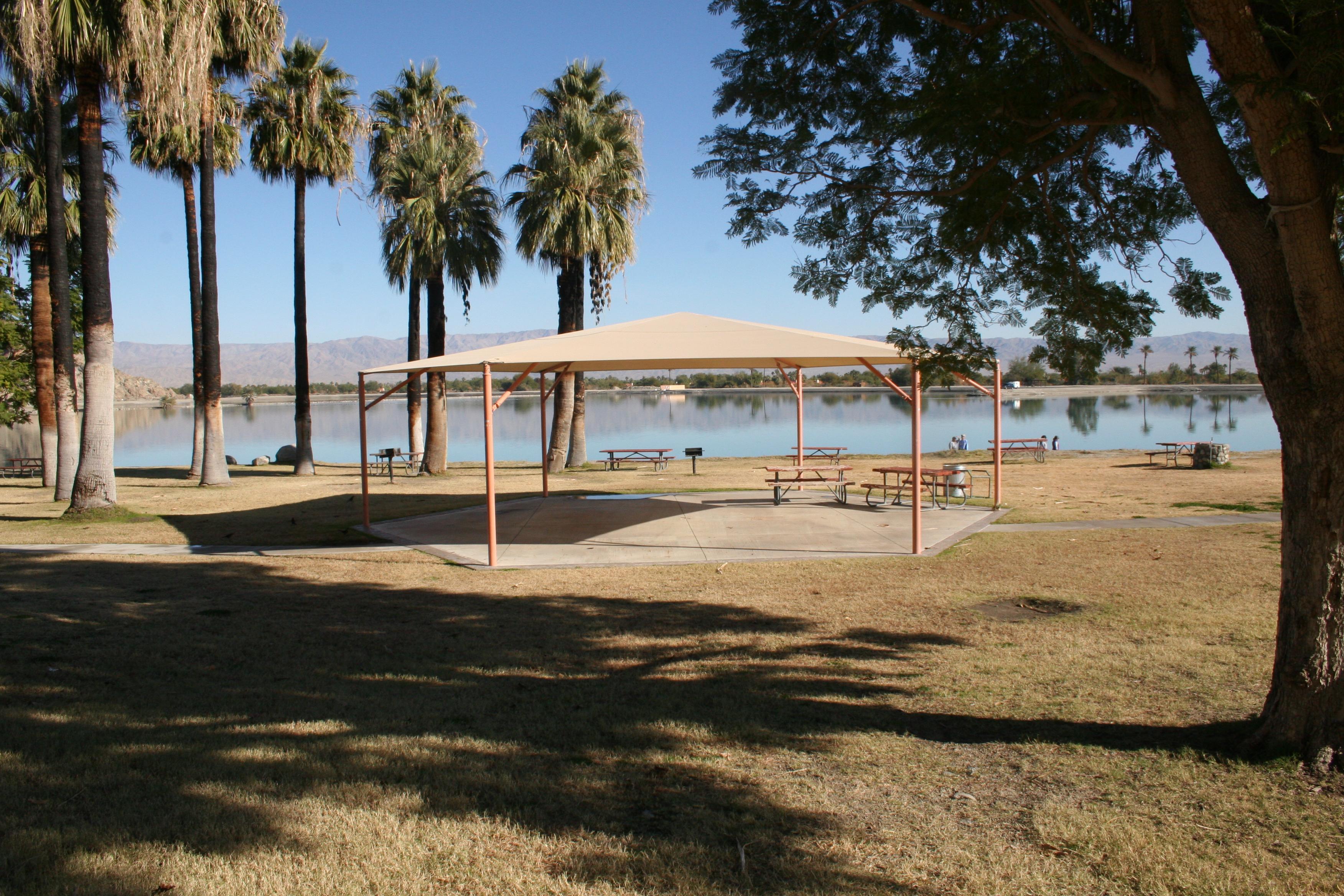 Picnic shelter at Cahuilla