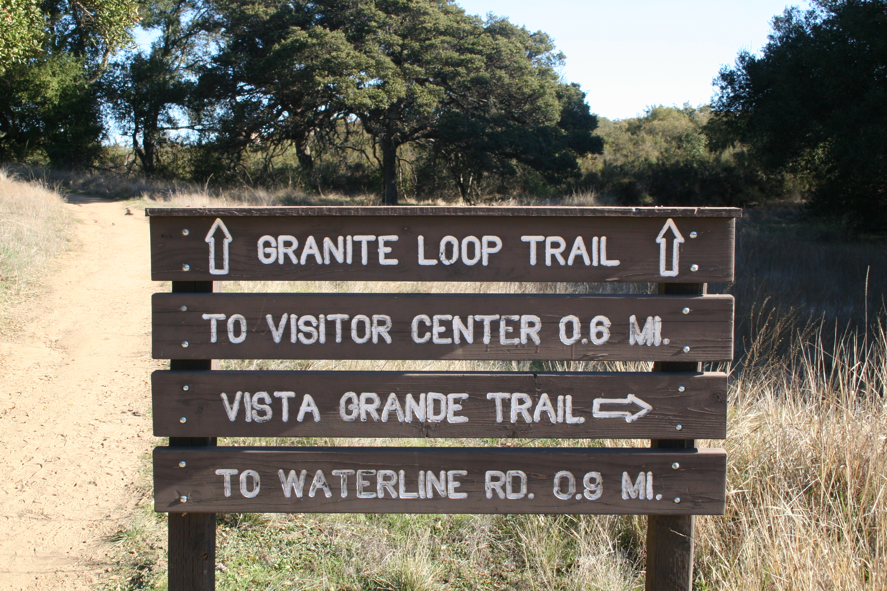 Trail signs on the reserve