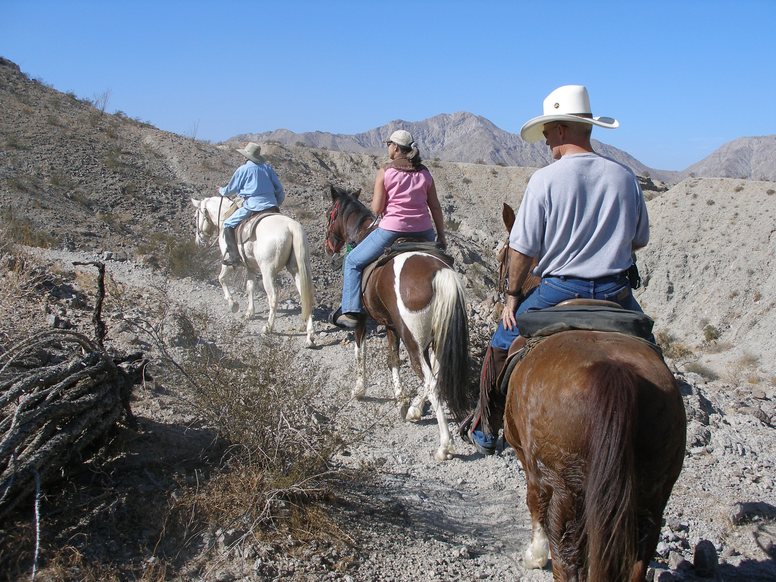 Horseback riders at Cahuilla