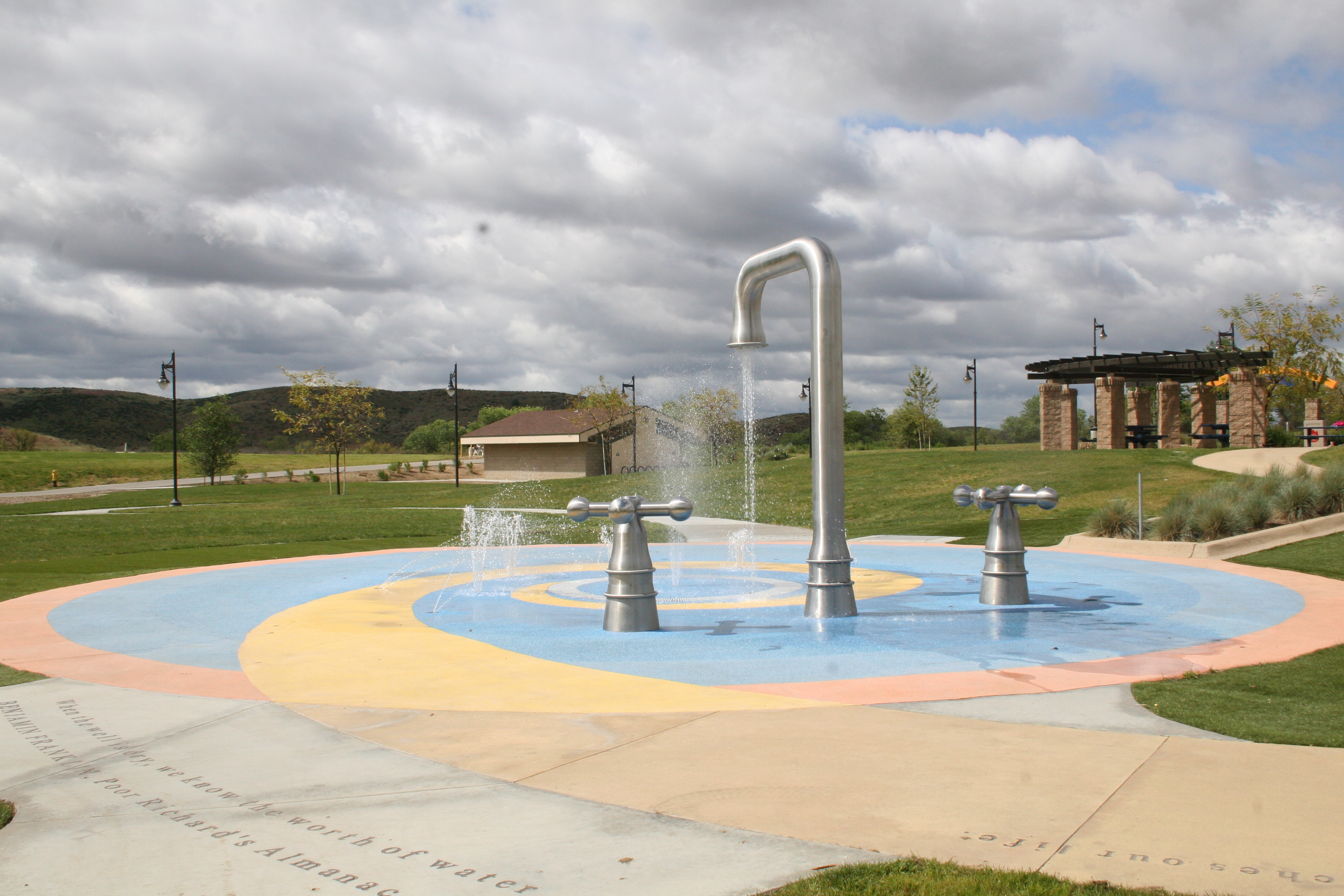 Splash pad at Lake Skinner