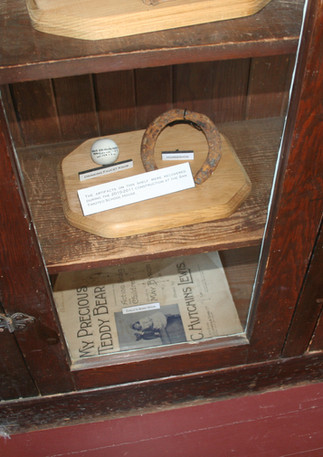 Historic schoolhouse artifacts