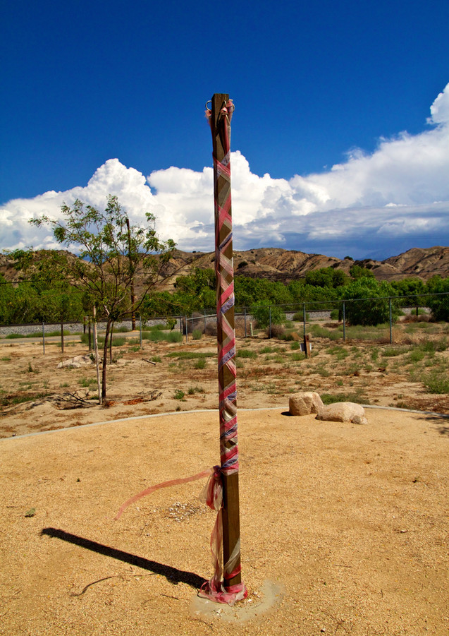 May Pole at historic schoolhouse