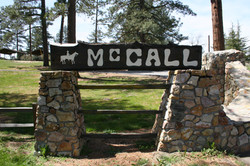 Welcome sign at McCall