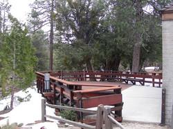 Snow around the bird viewing deck
