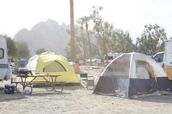 Tent camping at Cahuilla