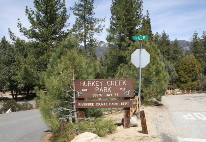 Hurkey Creek Park entrance sign