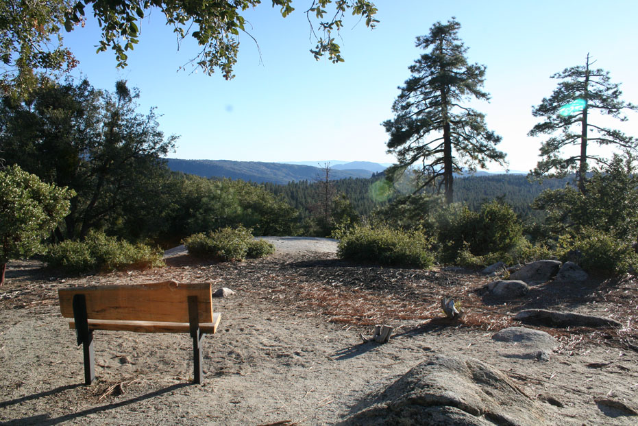 Scenic lookout point at Idyllwild