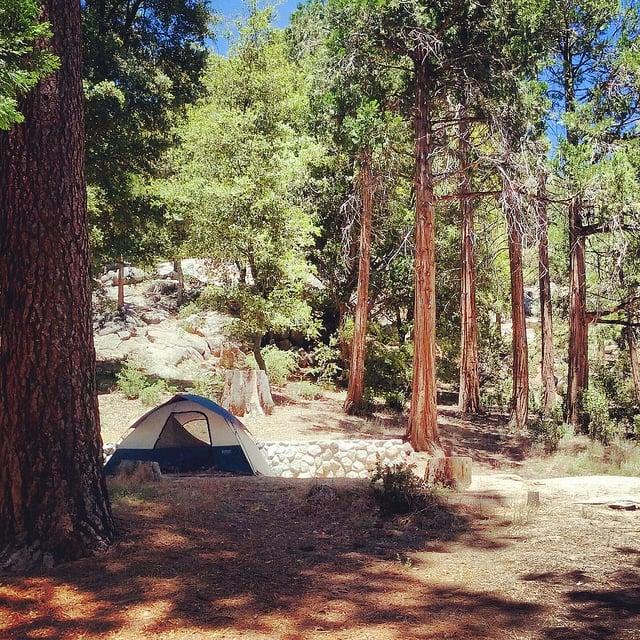 Tent camping at Idyllwild